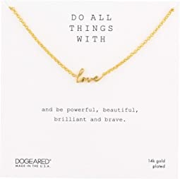 Do All Things with Love, Love Script Necklace