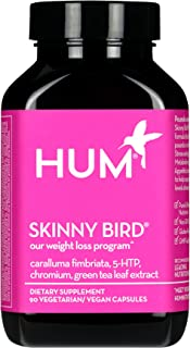 HUM Skinny Bird - Weight Management Support with Green Tea Extract, 5-HTP, Chromium & Caralluma Fimbriata (90 Vegan Capsules)