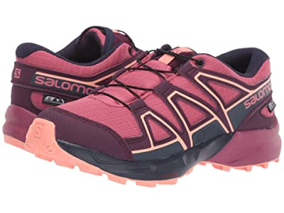 Salomon Kids Speedcross CSWP (Little Kid/Big Kid) (Malaga/Potent Purple/Desert Flower) Girls Shoes