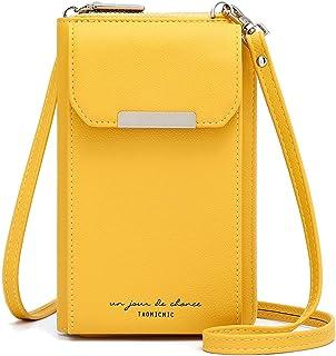 Aeeque Handy Portemonnaie Tasche,Handytasche zum Umhängen Damen kompatibel mit Samsung Galaxy A51 / iPhone 5,Handytasche m...