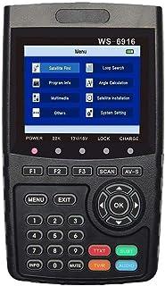 ZHITING-WS-6916 Medidor de señal de señal satelital HD, DVB-S / S2 Digital Directv Dish Network Satellite TV Finder con MP...