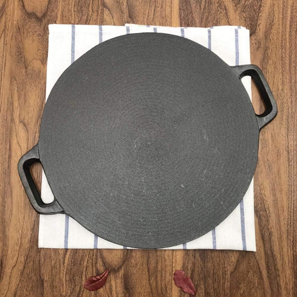OSL Casseroles Casserole, 30 cm de ménage Disponible dans Le Commerce épaissi Fonte Fruits Pancake Pan Pig Iron Pan Poêle antiadhésive Non couché,38cm 34cm