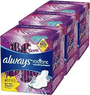 Always Radiant Teen Pads Get Real Regular, 14-Count (Pack of 3) Always Radiant Teen Pads Get Real Regular, 14-Count (Pack of 3)