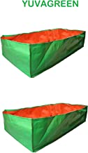 """YUVAGREEN Terrace Gardening Leafy Vegetable Green Grow Bag, 36"""" X 12 """" X 12"""" (Pack Of 2 )"""