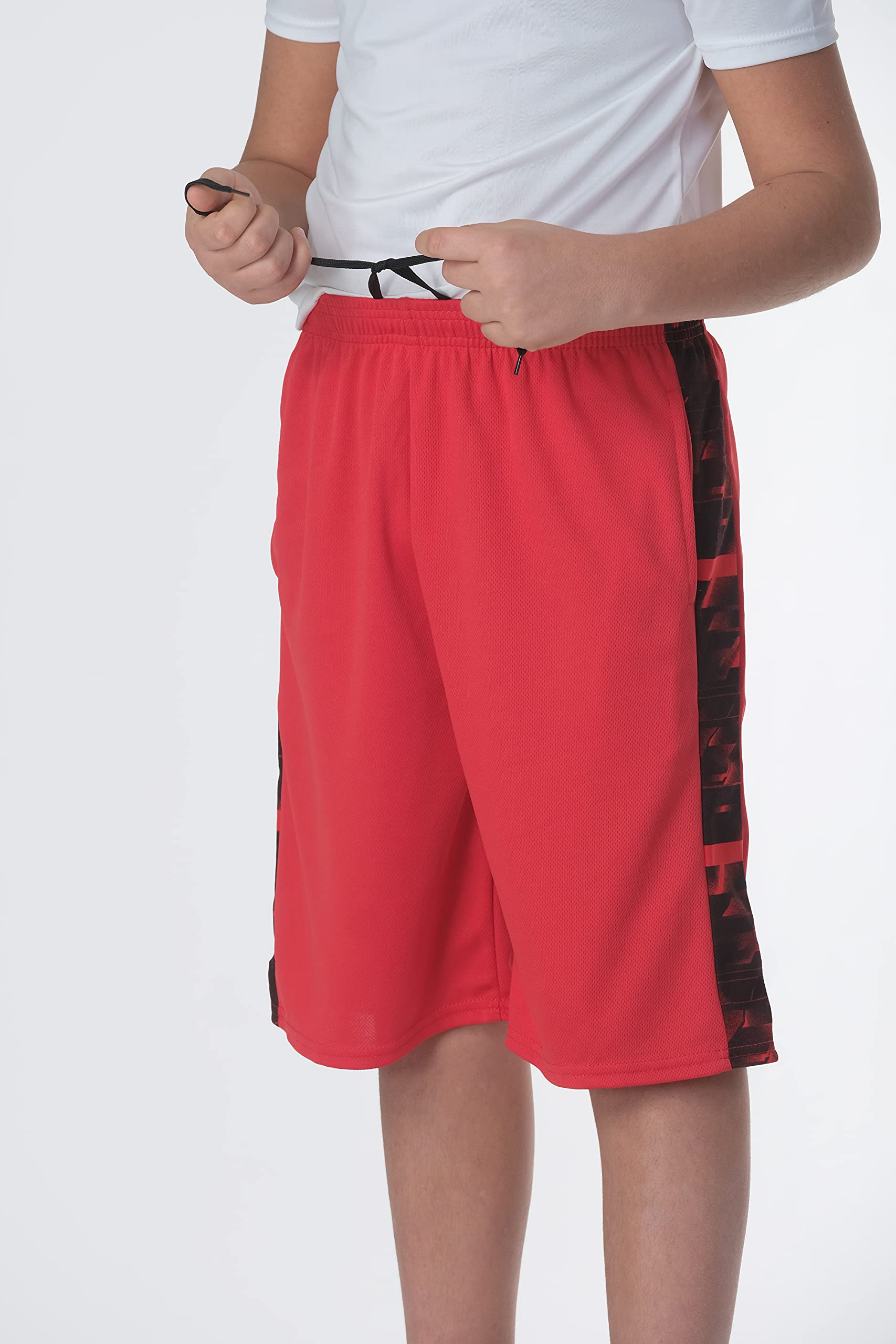 Boys' 5-Pack Mesh Active Athletic Performance Basketball Shorts with Pockets