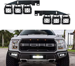 iJDMTOY 70-247-White 6000K White Off- Off-Road LED Light (2017 2018 and up Ford Raptor)