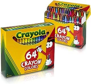 Crayola 760488360385, 64 Ct Crayons (Pack of 2)