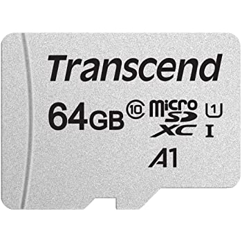 Transcend Usd300S Tarjeta Microsd de 64Gb, Clase 10, U1, A1, Hasta 95 Mbs de Lectura