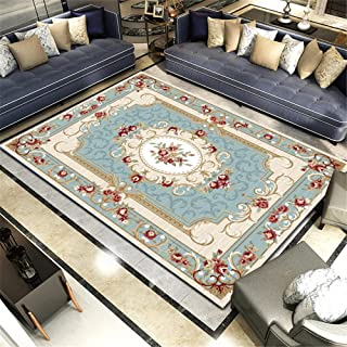 tapijten voor woonkamer verkoop kinderen tapijten studeerkamer tapijt woonkamer bank vloermat retro blauw rechthoekig tapi...