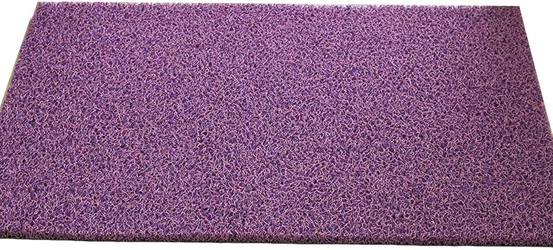JIAJUAN Doormat Non-Slip Wear Resistant Entrance Floor Mat Effective Scraping Dirt Door Mat Indoor Outdoor, 14mm, 4 colors, 12 Sizes (color   C, Size   60X90cm)