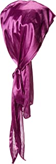 RED BY KISS Premium Silky Satin DURAG Men's Cap Doo RAG (Purple)