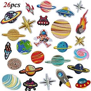 LAKIND 26 PCS Exquisitas Bricolaje Ropa Parches coser parches bordados Pegatinas Patrón Bordado de Hierro-en Parche para Camiseta Jeans Sombreros Bolsas Ropa Artesanal (26pcs)
