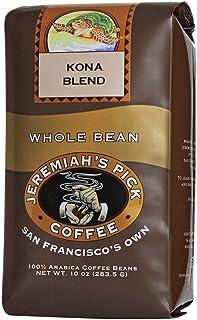Jeremiah`s Pick Coffee Kona Blend, Light Roast Whole Bean Coffee, 10 Ounce Bag