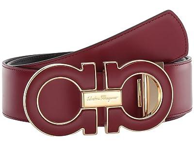 Salvatore Ferragamo Adjustable/Reversible Belt 679494 (Ferragamo Red) Men