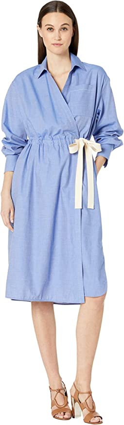 Soft Shirting Trench Wrap Dress