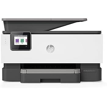 HP OfficeJet Pro 9010, Stampante Multifunzione a Getto di Inchiostro, Stampa, Scannerizza, Fotocopia, Fax, Wi-Fi, Wi-Fi Direct, Smart Tasks, 2 Mesi di Instant Ink Inclusi, Grigio