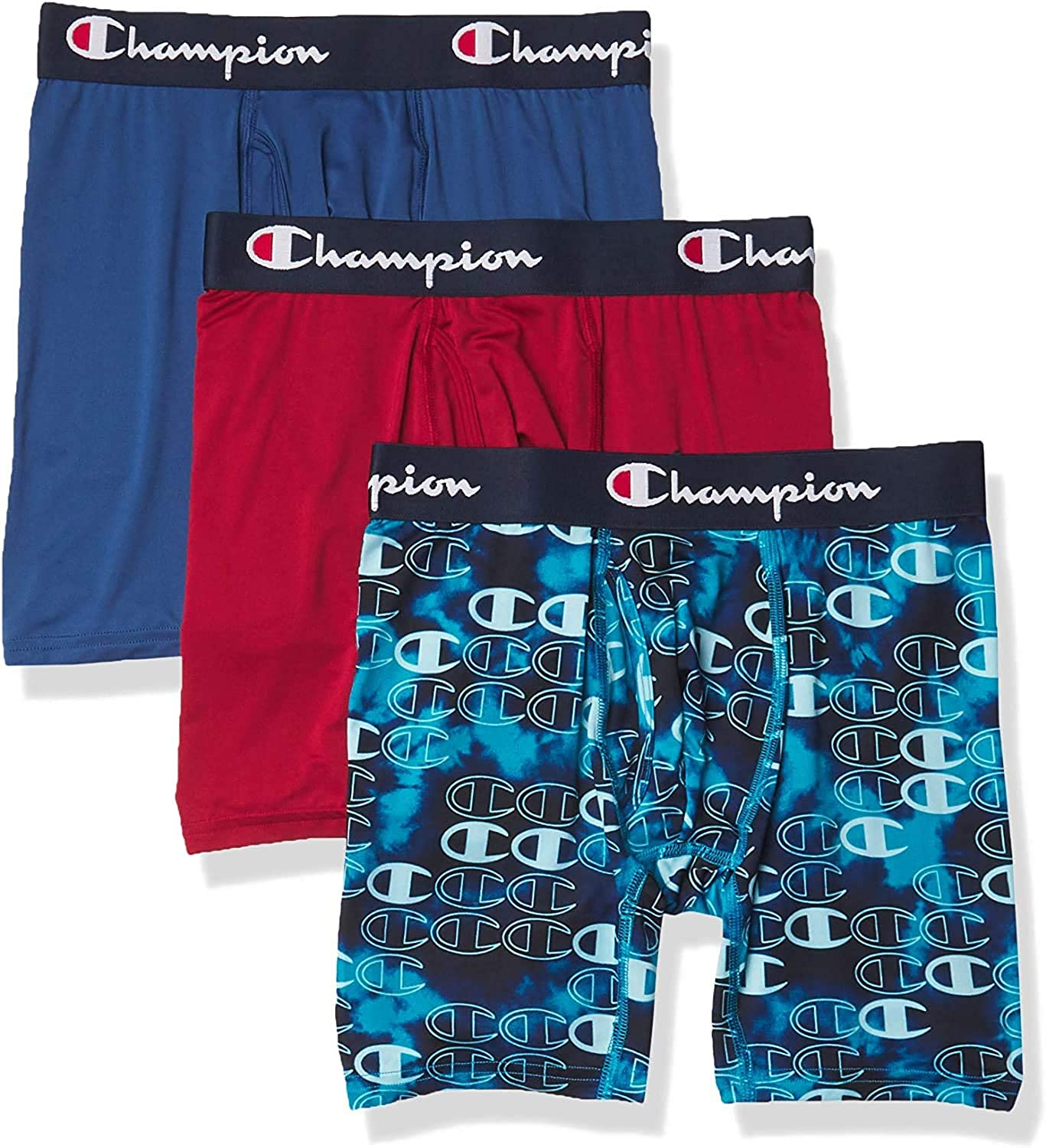Champion mens Athletics Everyday Active Lightweight & Breathable Boxer Brief (Pack of 3)