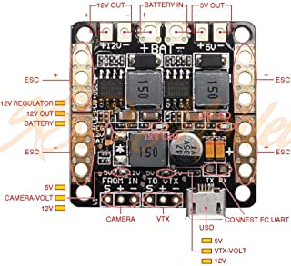 CC3D Naze32 F3 Flight Controller Power Distribution Board PDB with OSD BEC Output 5V 12V 3A LC Filter for FPV 250 Racing Drone
