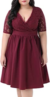 Best red plus size dresses for wedding Reviews