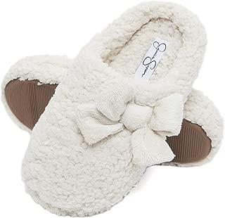 Jessica Simpson Womens Plush Marshmallow Slide On House Slipper Clog with Memory Foam