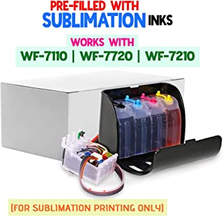 INKUTEN 400ml True Color Sublimation Ink CISS for 252 T252 XL Workforce WF-3640 WF-3620 WF-7110 WF-7610 WF-7620 Continuous Ink System