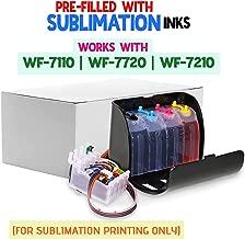 INKUTEN 400ml True Color Sublimation Ink CISS for 252 T252 XL Workforce WF-3640 WF-3620 WF-7110 WF-7610 WF-7620 Continuous Ink System