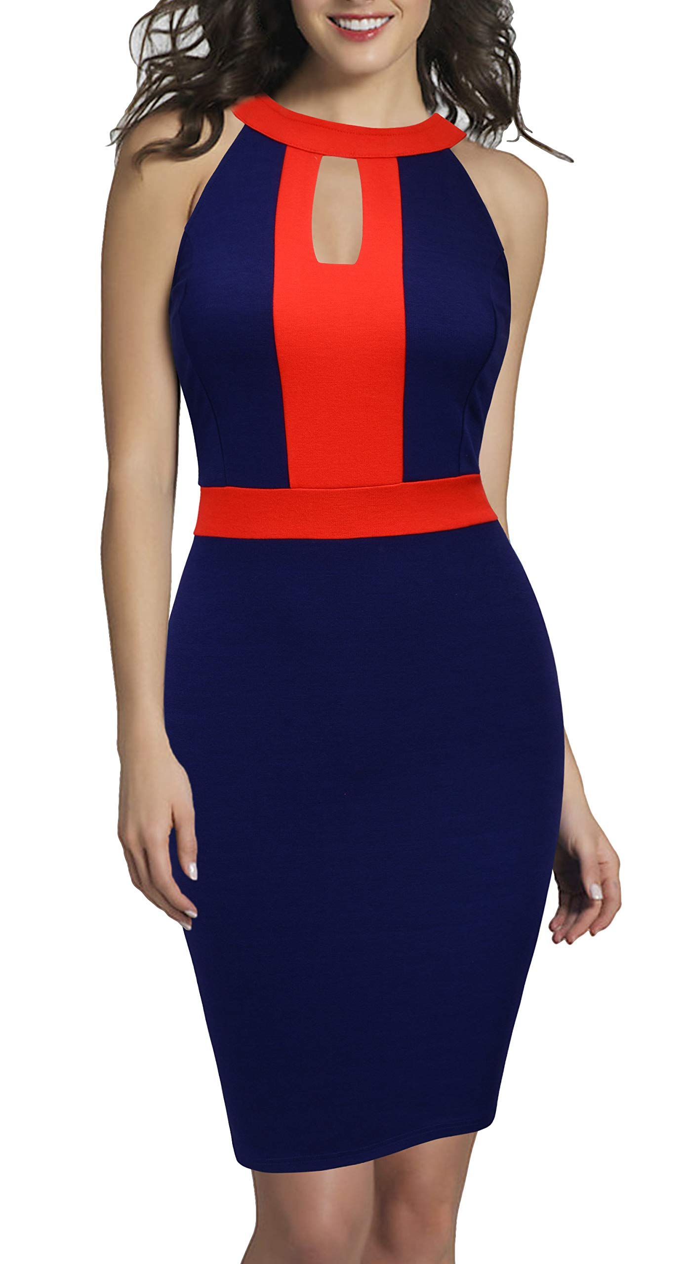 Available at Amazon: REPHYLLIS Women's Elegant Half Sleeveless Business Causal Party Pencil Work Dress