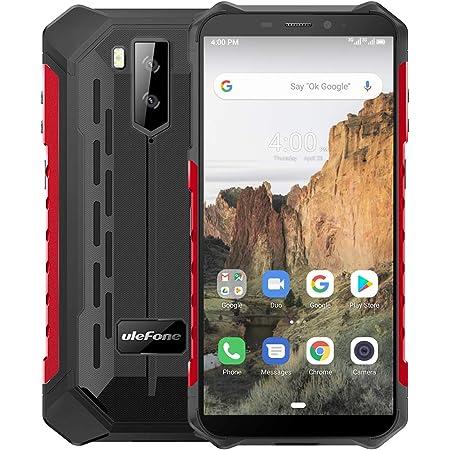 "Ulefone Armor X3 Móvil Libre, Resistente IP68 Impermeable Smartphone de 5.5"" (18:9) HD+ Android 9 Dual SIM, 2GB+32GB, Doble Cámara de 8MP + 2MP y 5MP,5000mAh Batería Face ID+GPS/Wi-Fi/Bluetooth (Rojo)"