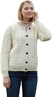 Supersoft Aran Merino Wool Lumber Jacket Cardigan Sweater