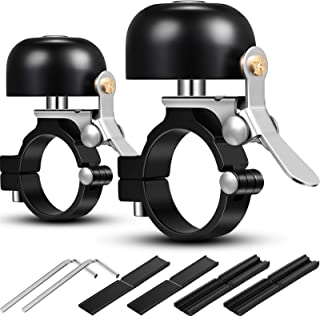 Mudder 2 Packs Bicycle Bell Bike Ring Bell Aluminum Alloy Bike Bell Classic Bicycle Bell Makes Loud Sound for Road Bike Mo...
