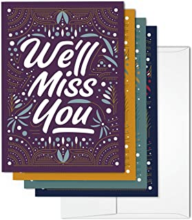 We'll Miss You Greeting Card Set | Includes 36 cards and envelopes
