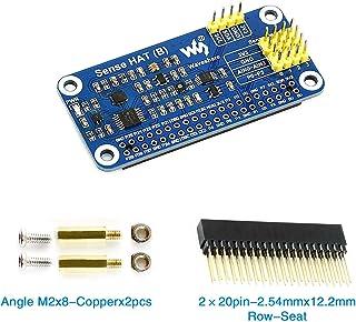 CQRobot Raspberry Pi/STM32 Sensor Expansion Board, Onboard Gyroscope + Accelerometer + Magnetometer + Barometer + Temperature and Humidity Sensor + Color Recognition Sensor + ADS1015 Chip.