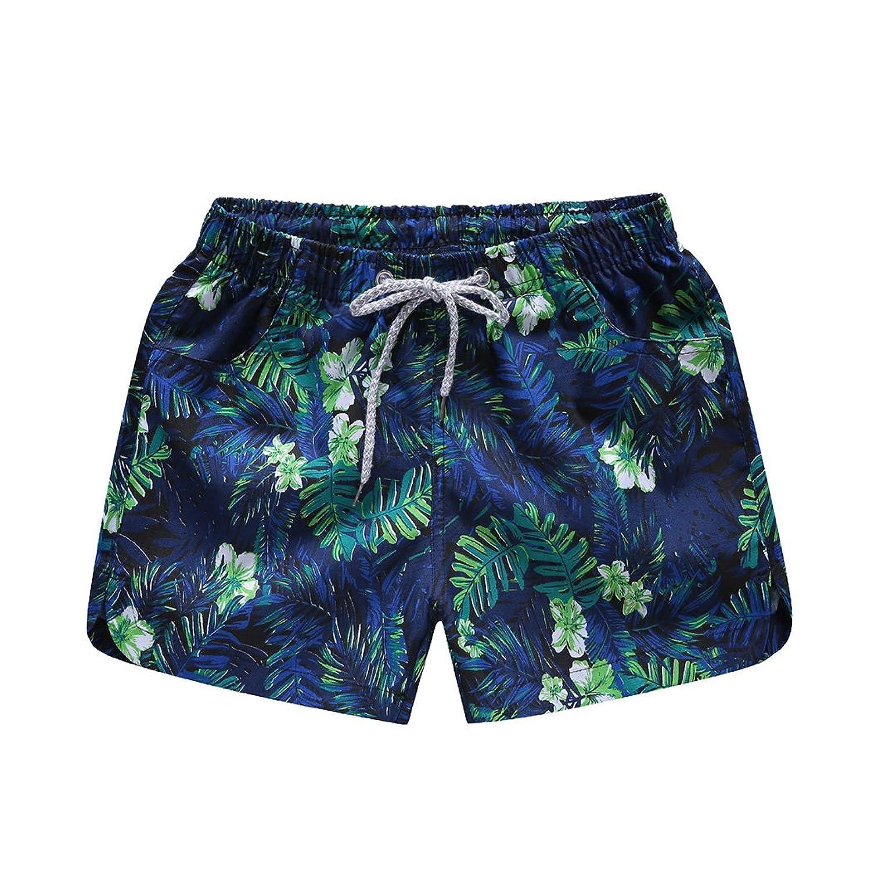 BANKIKU (バンキク) レディース 女性 女の子 パンツ ファッション 柄 ひも付き ショート丈 水陸両用 おしゃれ サーフパンツ 海水パンツ 水着 ビーチパンツ リソート 体型カバー ルームウェア