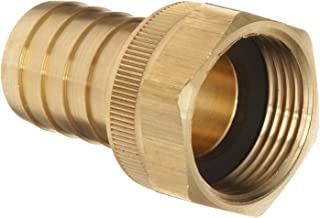 Dixon BS848 Brass Hose Fitting, Machined Coupler with Swivel Nut, 1