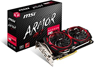 MSI Gaming Radeon RX 580 256-bit 8GB GDRR5 DirectX 12 VR Ready CFX Graphics Card (RX 580 ARMOR MK2 8G OC)