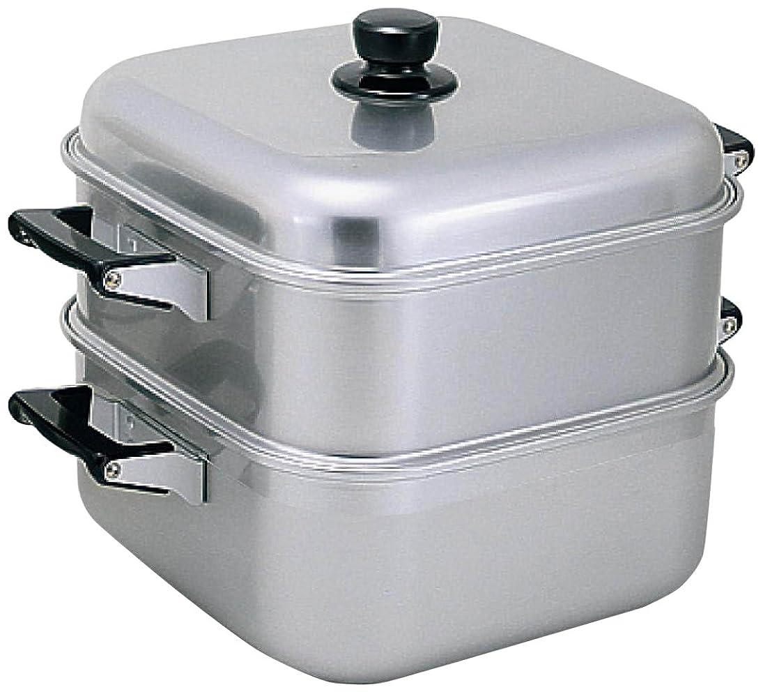 僕のプレゼンターじゃないアカオアルミ 角型蒸器 33cm 一重 アルミニウム合金(アルマイト)、ハンドル(フェノール樹脂) 日本 AMS71331