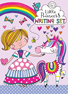 Rachel Ellen Princess and Unicorn Girls Writing Set Folder