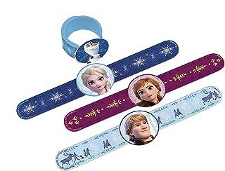 """Frozen 2 Birthday, Plastic Slap Bracelets, Party Favor, 9.25"""" x 2"""", 4 Ct."""