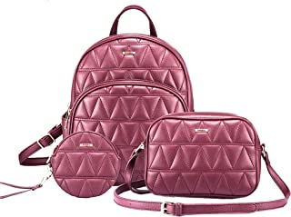 SaleBox® Fashion Girls 3-PCS Fashion Cute Stylish Leather Backpack & Sling Bag Set for Women, School & College Girls/Leath...
