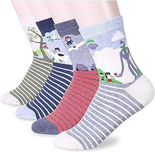 Socksense Choice Famous Japanese Series Animation Print Crew Socks (G Animation2_4pairs)