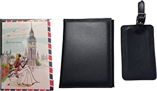 Passport Holder and Baggage Name Tag Plus Extra London Design Fashion Passport Cover