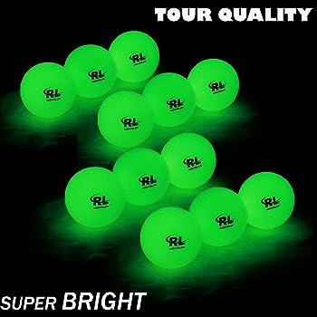 R&L Fluorescent Glow Golf Balls