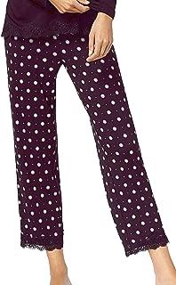 Alfani Womens Lace-Trim Printed Pajama Pants
