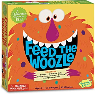 Peaceable Kingdom Feed The Woozle Preschool Skills Builder Game