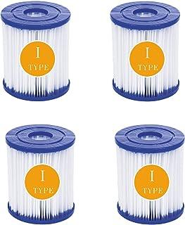 QIOO Bestway - Cartuchos de filtro para piscina (tamaño 1, tipo I, para Bestway 58381, sustituye a 58093, 7,8 x 8,8 cm, 4 unidades)