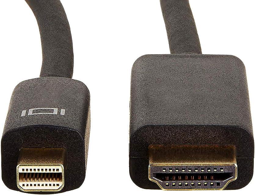 AmazonBasics - Cable adaptador Mini DisplayPort a HDMI (09 m)