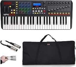 Akai Professional MPK USB MIDI Performance Keyboard Controller + Gator Bag + MIDI Cable & Peel-Off Labels (49-Key)