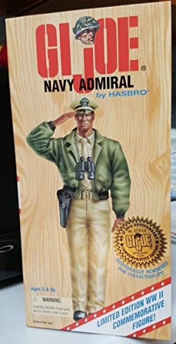 GI JOE Navy Admiral AA Officer WWII 50th anniversary Commemorative edition by Hasbro
