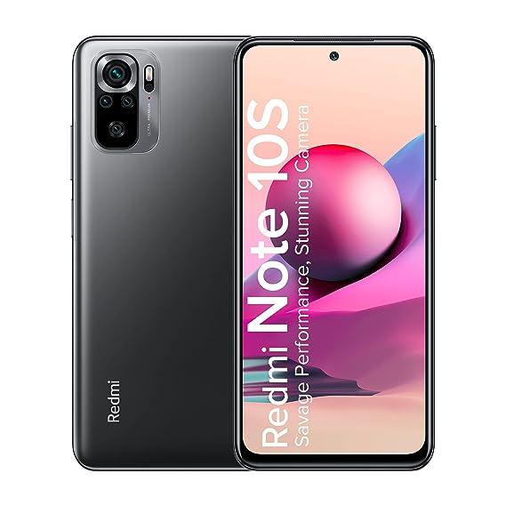 Redmi Note 10S (Shadow Black, 6GB RAM, 64GB Storage) - Super Amoled Display | 64 MP Quad Camera|NCEMI Offer on HDFC Cards
