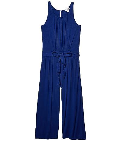 Tommy Bahama Slub Knit Sleeveless Crop Jumpsuit Cover-Up (Blue Sapphire) Women